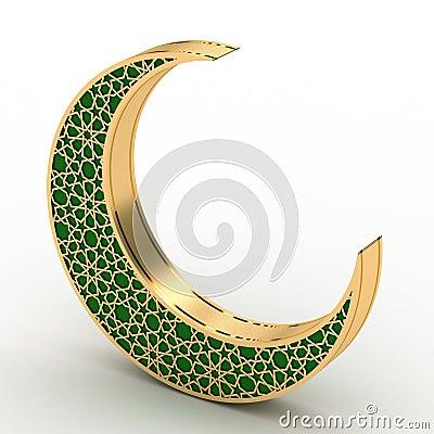 Free Arabesque Moon Stock Image - 40850231