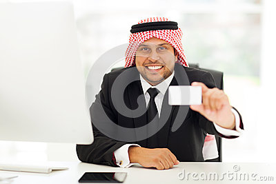 Arabian business card