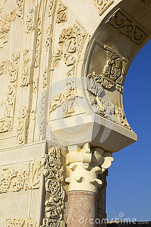 Arabian column and arch. X century