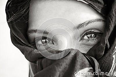 Arabian eye closeup