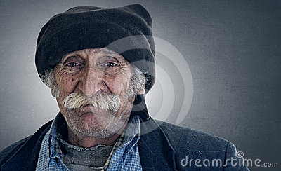 Arabian lebanese man with big mustache smiling
