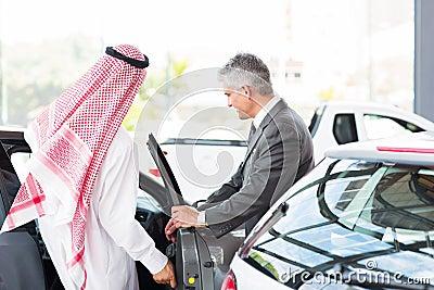 Arabian man test drive