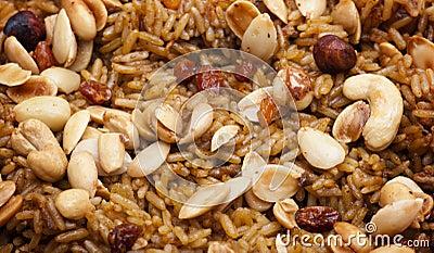 Arabian Rice Meal (Kabsa) Closeup