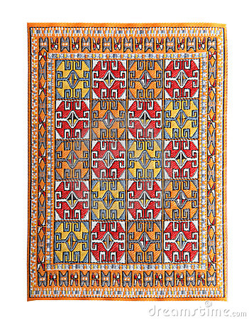 Arabian silk carpet