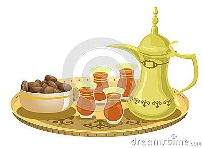 Arabian Tea Set With Dates 2