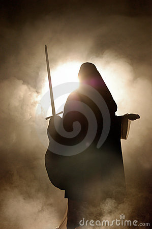 Free Arabian Woman With A Sword In Hand. Stock Photography - 5351122