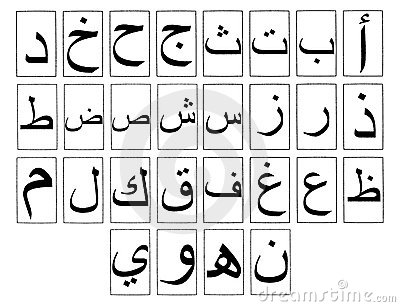 Arabic Alphabet Horizontal
