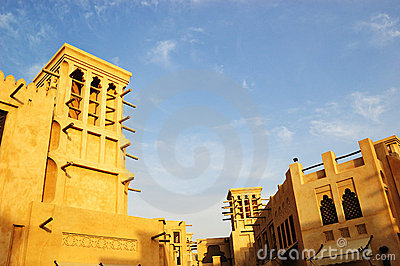 Arabic architecture during sunset