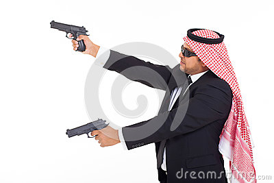 Arabic bodyguard guns