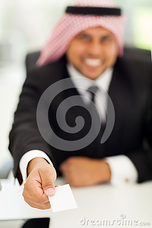 Arabic businessman card