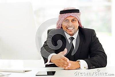 Arabic businessman handshake