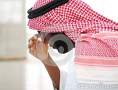 Arabic businessman stressed
