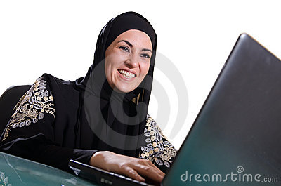 Arabic bussines lady smiling