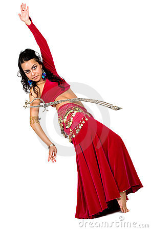 Arabic dancer with a sword