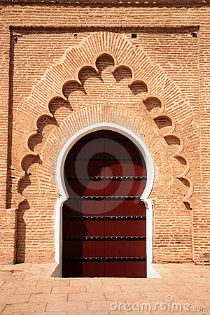 Arabic door in Koutubia mosque