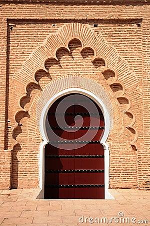 Arabic door in Koutubia mosque