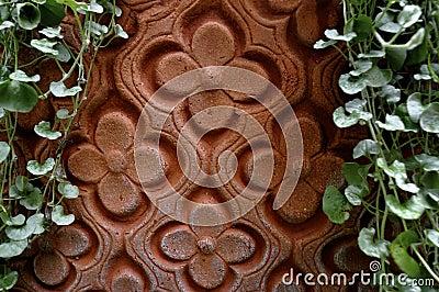 Arabic floral design in clay