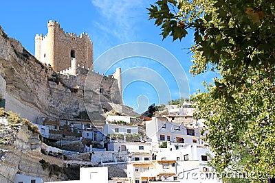 Arabic fortress in Alcala del Jucar, Spain