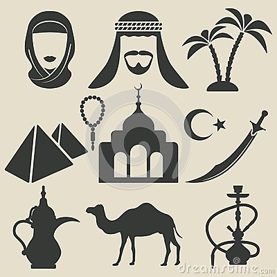 Free Arabic Icons Set Stock Photography - 44938442