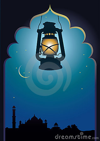 Arabic lamp background