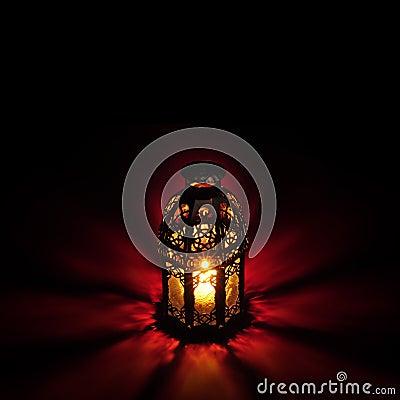 Arabic lantern red