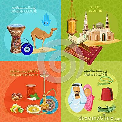 Free Arabic Life Set Stock Image - 53494551
