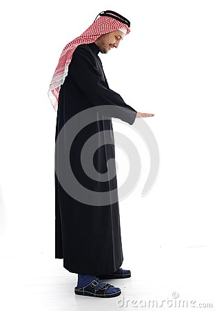 Arabic man looking down