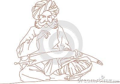 Arabic man with a sword