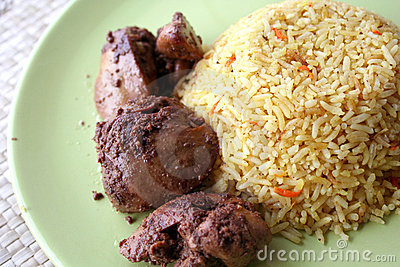 Arabic meal rice with chicken