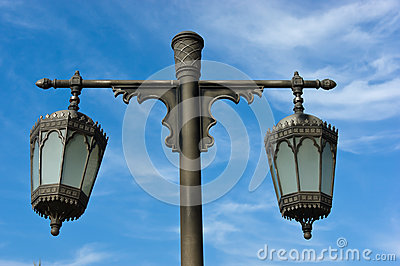 Arabic metal streetlight