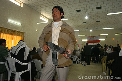 Arabic Militant in Iraq Editorial Image