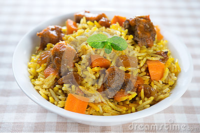 Arabic mutton rice.
