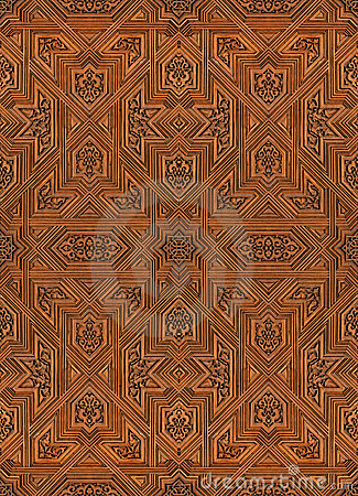 Arabic pattern seamless texture at Alhambra palace