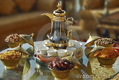 arabic tea setup