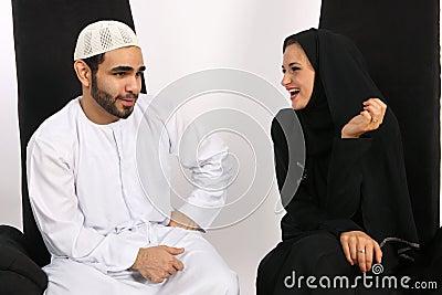 Arabische Richtung der Stimmung