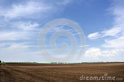 Arable land and the sky