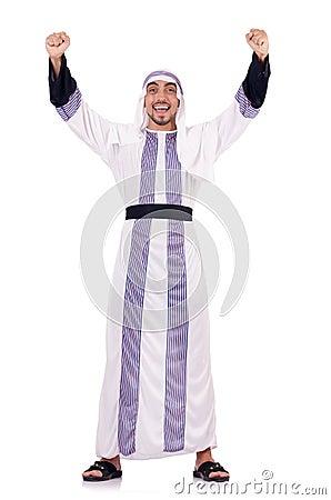Arabski mężczyzna odizolowywający