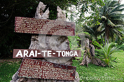 Arai Te Tonga Marae in Rarotonga Cook Islands Editorial Photography