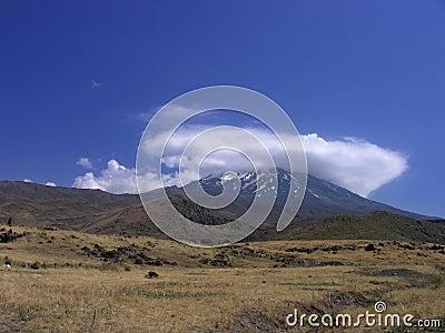 Ararat hiding in cloud cap
