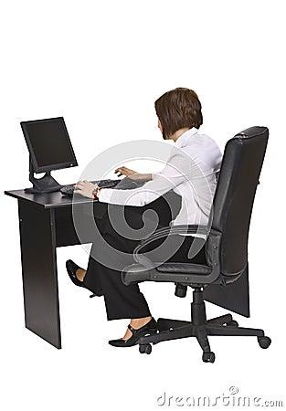 Arbeiten an dem Computer