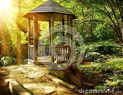 Arbor in Autumnal Park