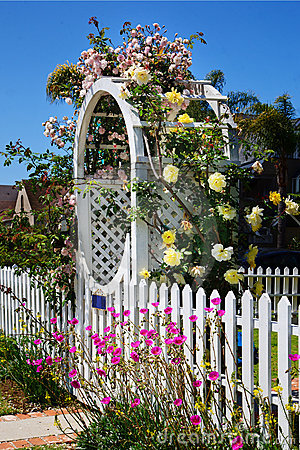 Arbor with Beautiful Flowers