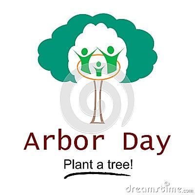 Free Arbor Day Logo Illustration Royalty Free Stock Photos - 48238548