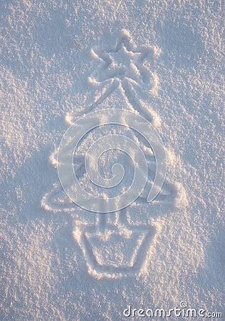 Arbre de Noël de neige