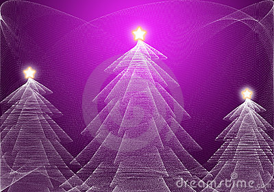 Arbre de Noël abstrait