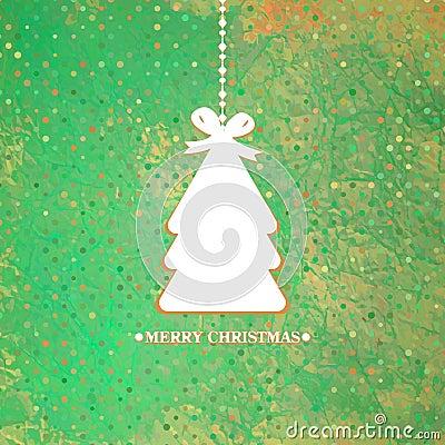 Arbre de Noël bleu décoré. ENV 8