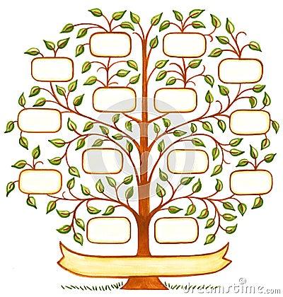 arbre g n alogique peint la main illustration stock