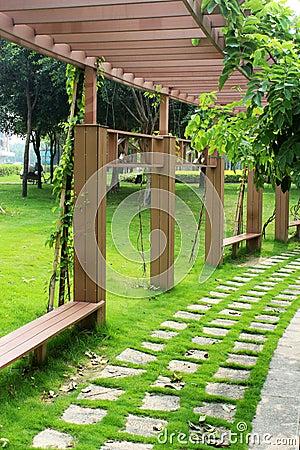 Arc corridor in park