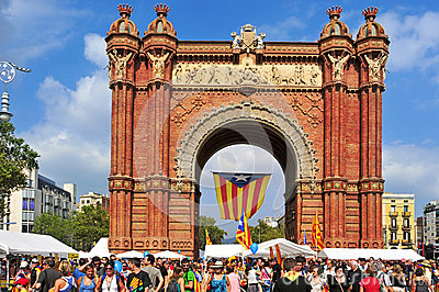 Arc de Triomf in Barcelona Editorial Image