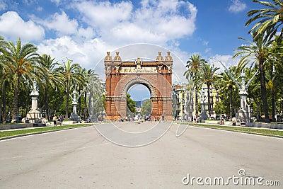 Arc de Triomf in Barcelona, Spain Editorial Stock Image